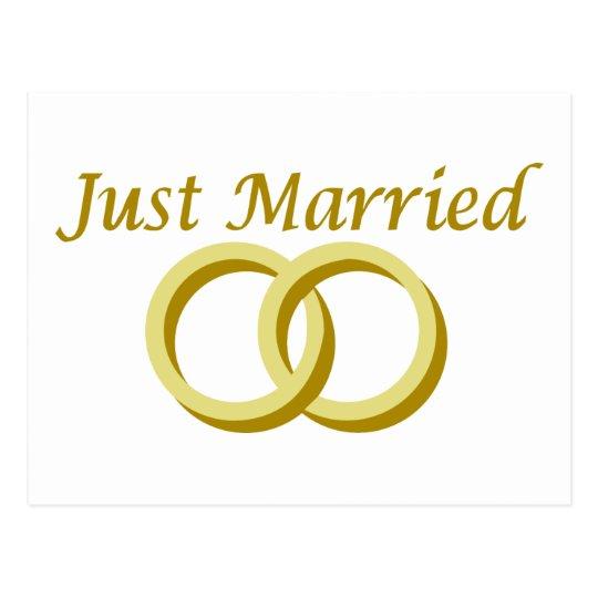 Just Married rings Postcard