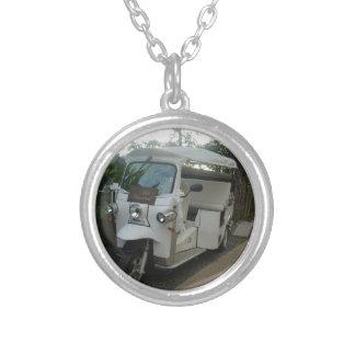 Just Married! Round Pendant Necklace