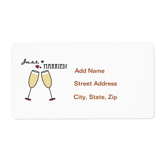 Just Married Shipping Label