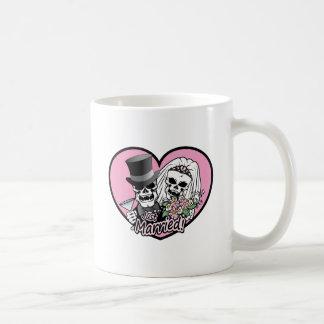 Just Married skulls Coffee Mug