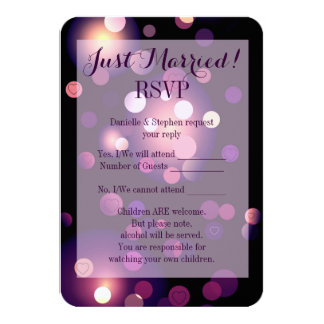 "Just Married Spots and Hearts RSVP 3.5"" X 5"" Invitation Card"