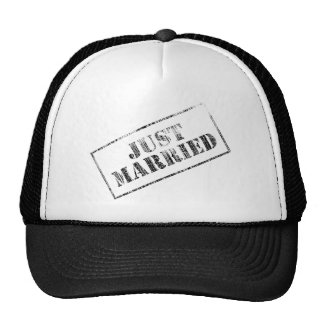 Just Married Stamp Hats