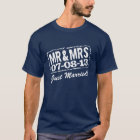 Just married t shirt with wedding date | Mr & Mrs
