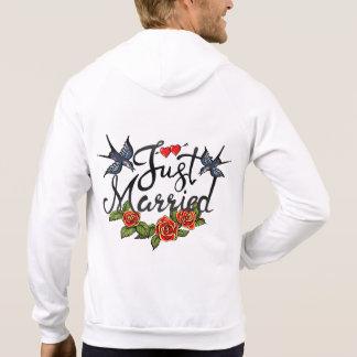 Just married -tattoo sweatshirt