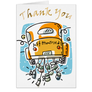 Just Married Thank You Card (2B)