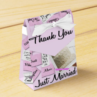Just Married Thank You Wedding Favor Box