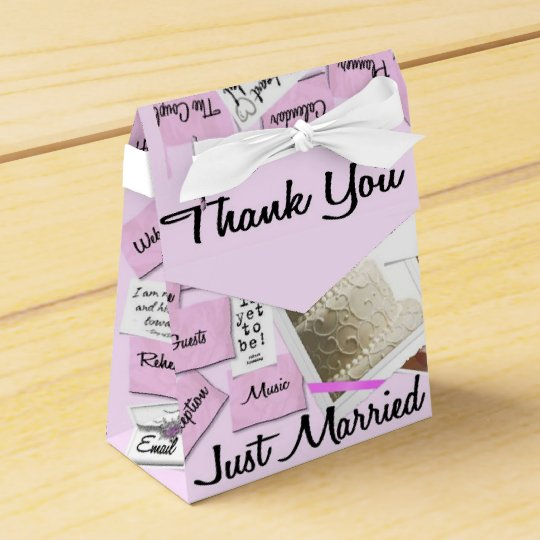 Just Married Thank You Wedding Favour Box