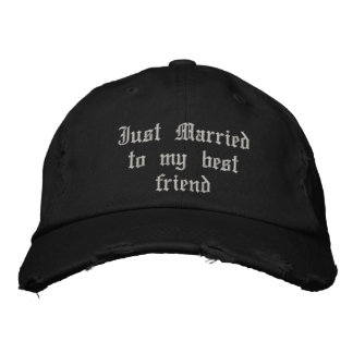 Just Married to my best friend gothic wedding hat