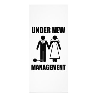 Just Married Under New Management Personalized Rack Card