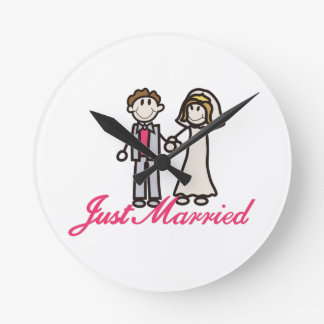 Just Married Wallclock