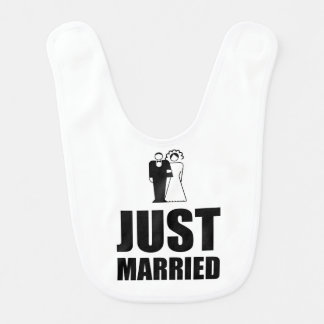 Just Married Wedding Bride Groom Bib