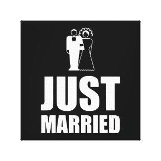 Just Married Wedding Bride Groom Canvas Print