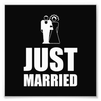 Just Married Wedding Bride Groom Photograph