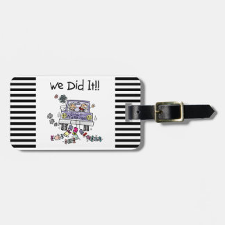 Just Married Wedding Car Luggage Tag