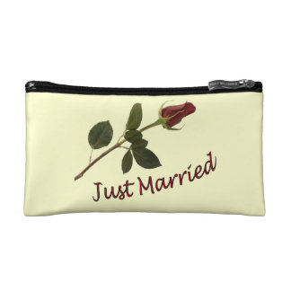 Just Married Wedding Cosmetic Bag