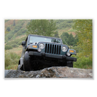 Just Me and My Jeep - By Logan Guinn Poster