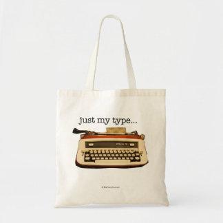 """just my type..."" tote bag"