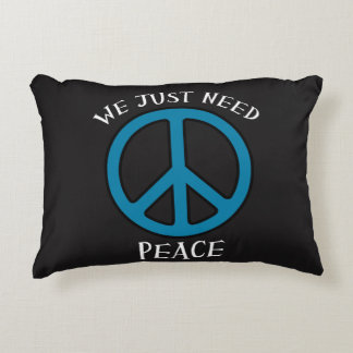 Just need peace home decor throw pillow
