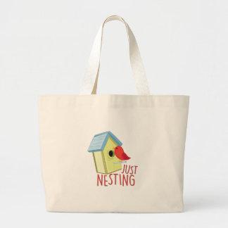 Just Nesting Large Tote Bag
