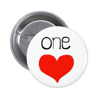 Just one heart! , 2¼ Inch Round Butt 2 Inch Round Button