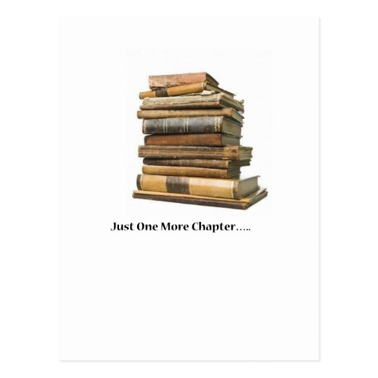 Just One More Chapter Postcard
