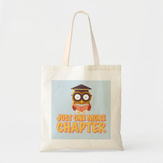 Just One More Chapter Wise Owl Reading A Book Tote Bag