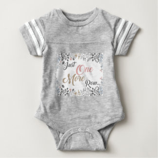 Just One More Row Knitting Art Baby Bodysuit