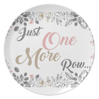 Just One More Row Knitting Art Plate