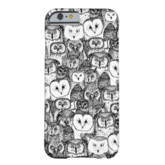 just owls black white barely there iPhone 6 case