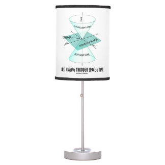 Just Passing Through Space & Time Light Cone Table Lamp