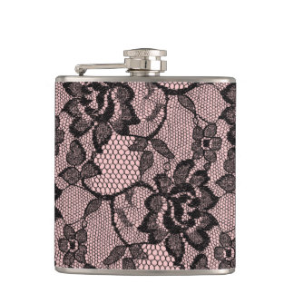 Just Peachy Lace Flasks