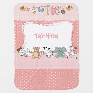 Just Peachy Little Animals - Baby Blanket