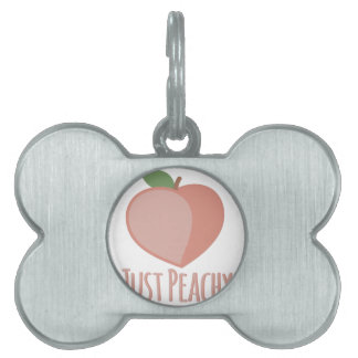 Just Peachy Pet Tag