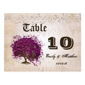 Just Peachy Sangria Heart Leaf Tree Table Number Postcard