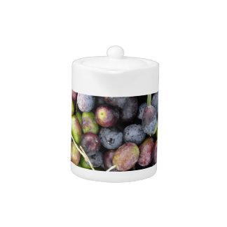 Just picked olives background during harvest time