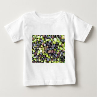 Just picked olives background during harvest time baby T-Shirt