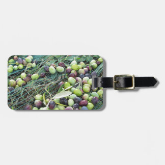 Just picked olives on the net during harvest time luggage tag