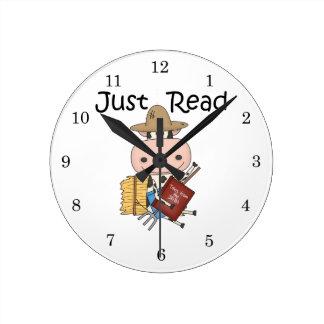 Just Read Round Clock