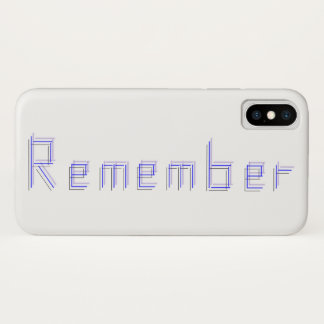 Just REMEMBER iPhone X Case