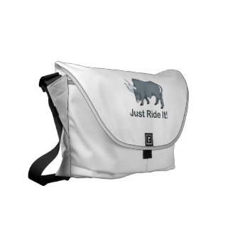 Just Ride it Grey Bull Commuter Bags