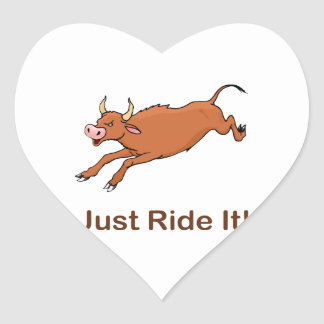 Just Ride It With Brown Bucking Bull Sticker