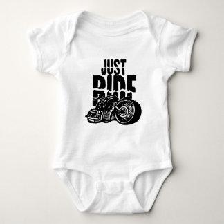 Just Ride Motorcycle Design Baby Bodysuit