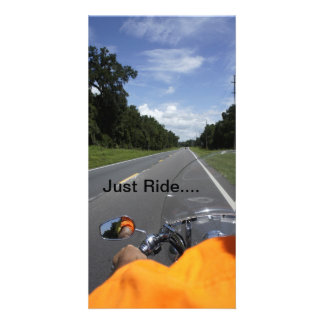 Just Ride Personalized Photo Card
