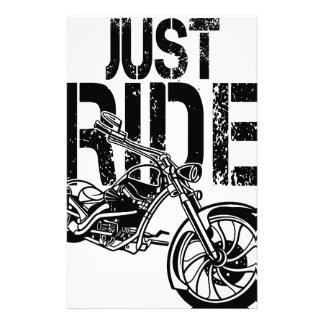 JUST RIDE STATIONERY