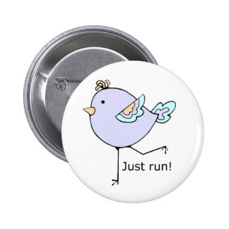 Just Run Motivational Quote for Running Fans 2 Inch Round Button