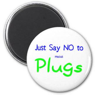 Just Say No (Green) Magnet