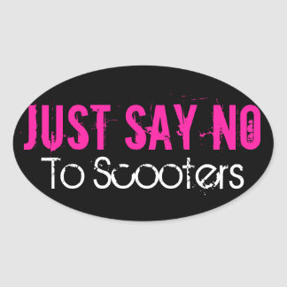 Just Say No! Oval Sticker