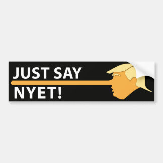 Just Say Nyet (on black) Bumper Sticker