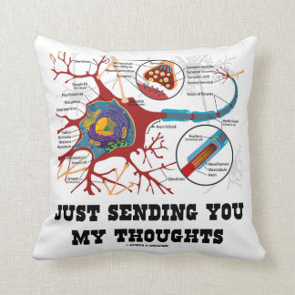 Just Sending You My Thoughts (Neuron / Synapse) Throw Pillow