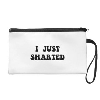 Just Sharted Wristlet Clutch
